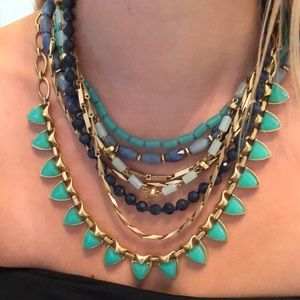 Multi-way blue and great statement necklace